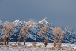 Last light on the Tetons